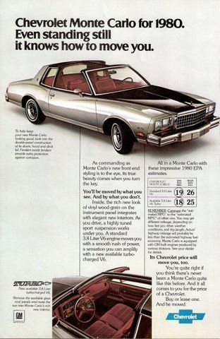 Pin By Steve Golse On The Cars The Star Unique Auto Ads Chevrolet Monte Carlo Car Advertising Chevrolet