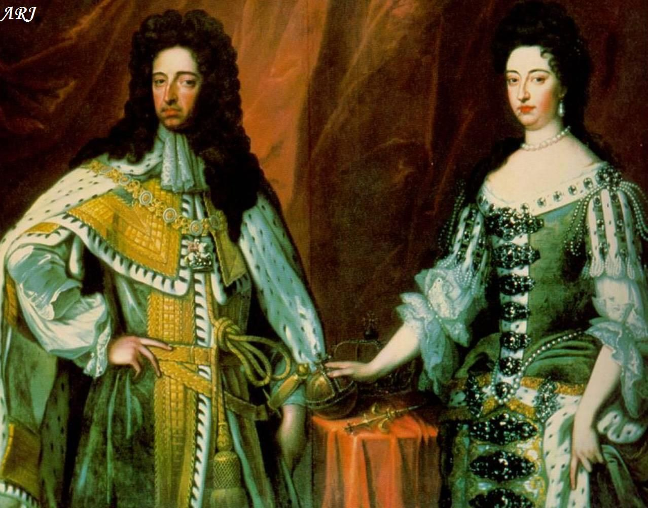 King William Iii Reign 1689 To 1702 And Queen Mary Ii Stuart