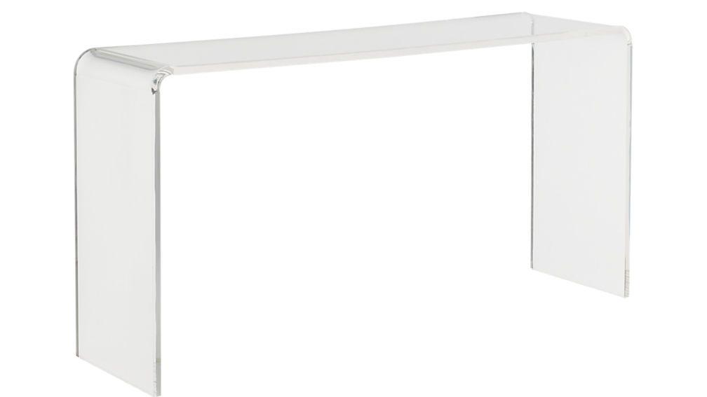 Peekaboo 56 Acrylic Console Table Reviews Cb2 In 2020 Console Table Acrylic Furniture Design Office Furniture Modern
