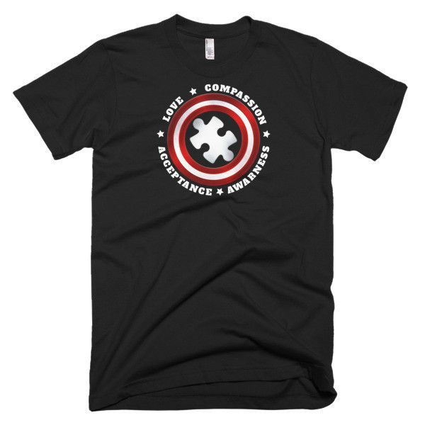 Autism Captain Autism Superhero Gift T-shirt #superherogifts
