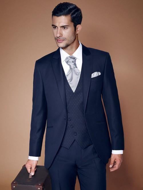 mens groomsmen suits in navy blue - Google Search   my wedding ...