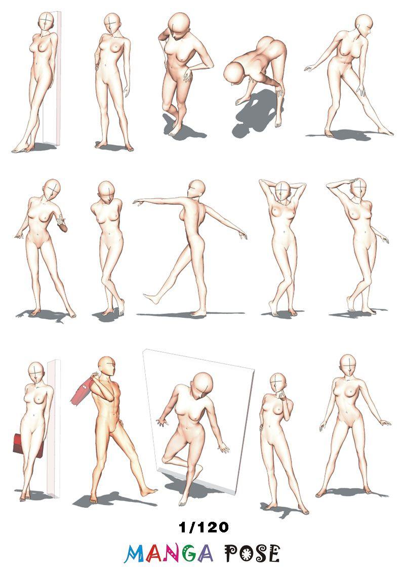 Tutorial Drawing Manga Pose Big Posebook For Manga Anime Character Standing Poses Manga Poses Anime Poses Reference Figure Drawing Reference