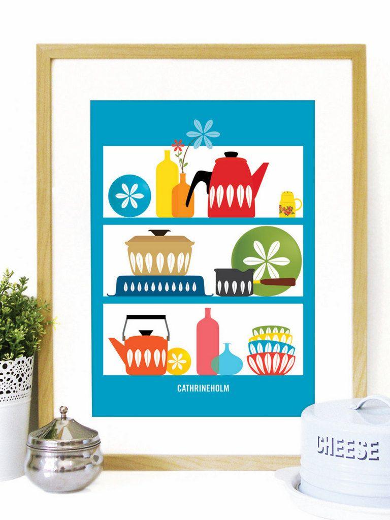 Affiche cuisine r tro on vous dit o en trouver rangement cuisine r tro affiche et r tro - Affiche cuisine retro ...