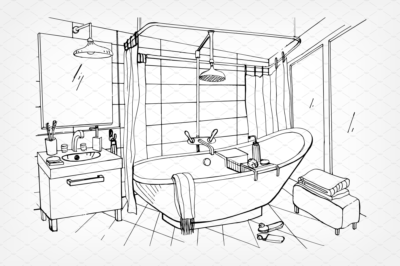 modern bathroom and toilet interior  Bathroom interior, Modern