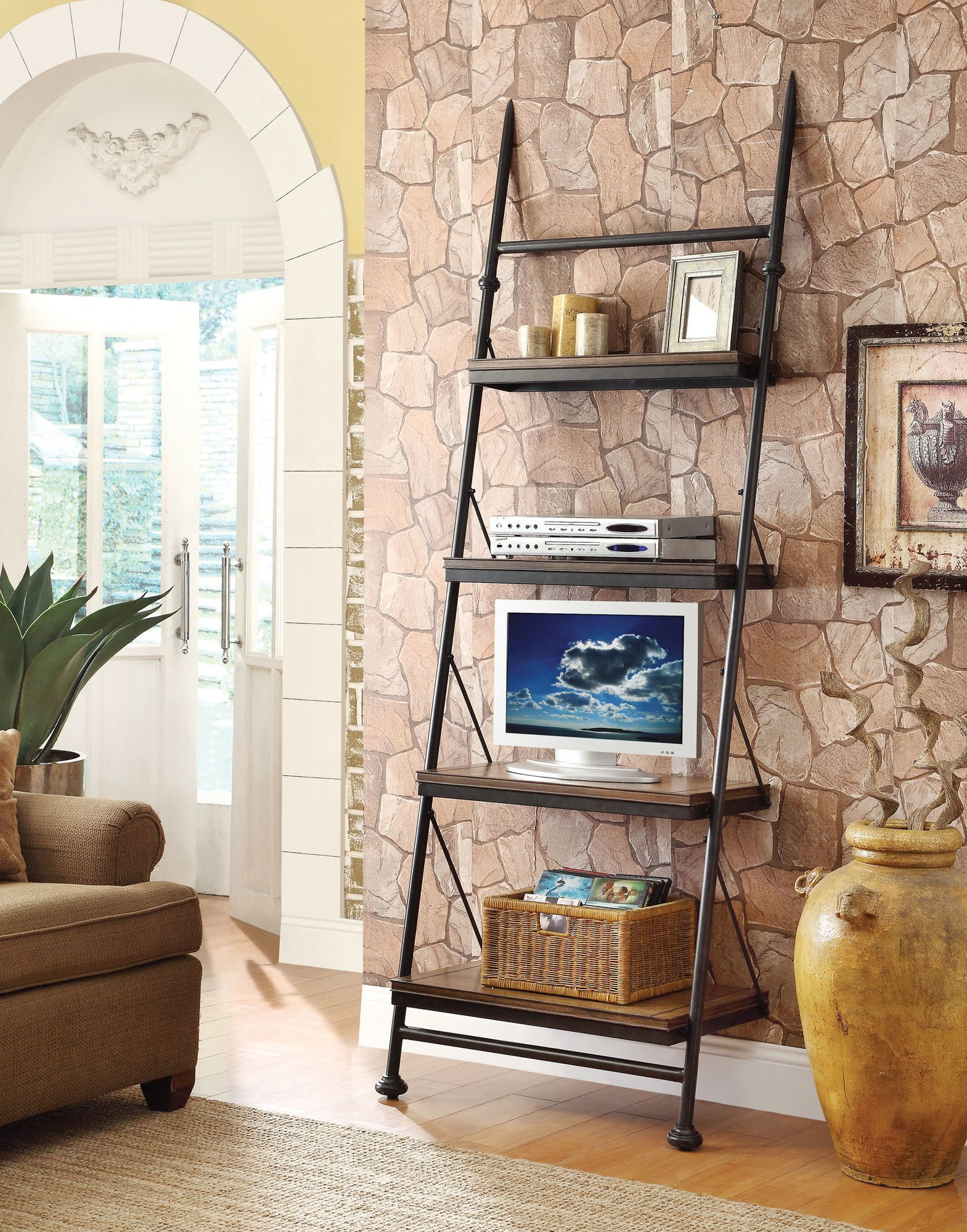 Yreka ladder bookcase ladder bookcase and products