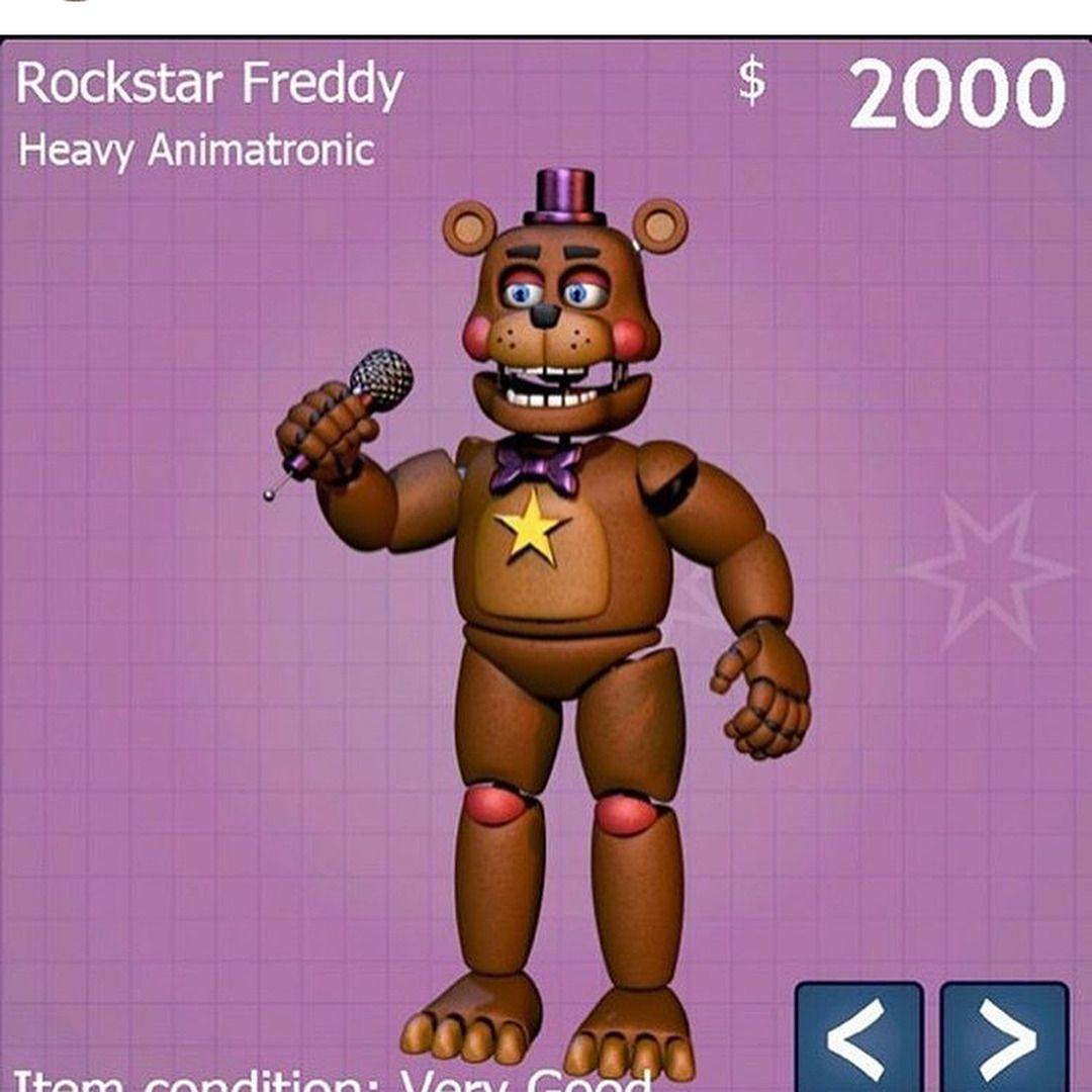bored freddy fazbear's pizzeria simulator rockstar freddy rockstar
