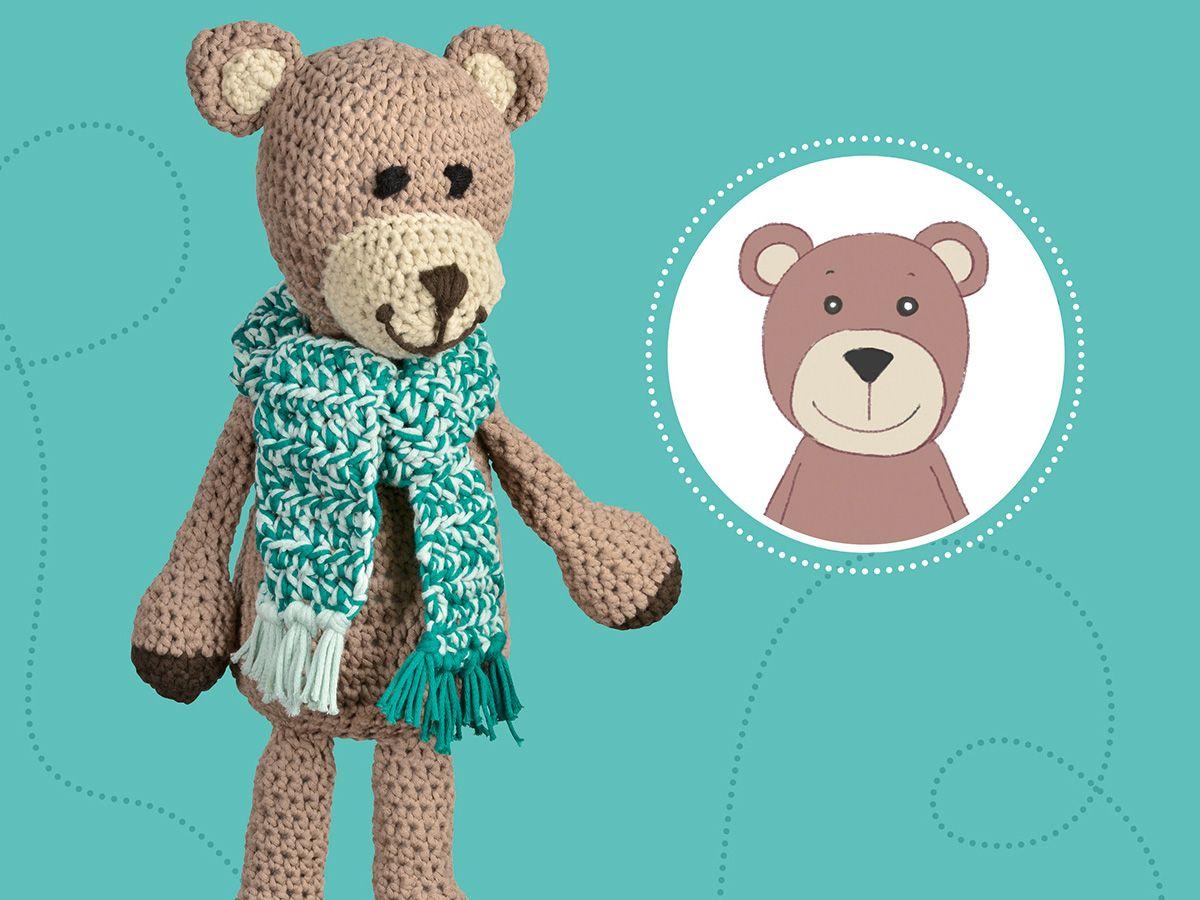 häkelmuster: teddybär häkeln: anleitung für einen süßen gefährten