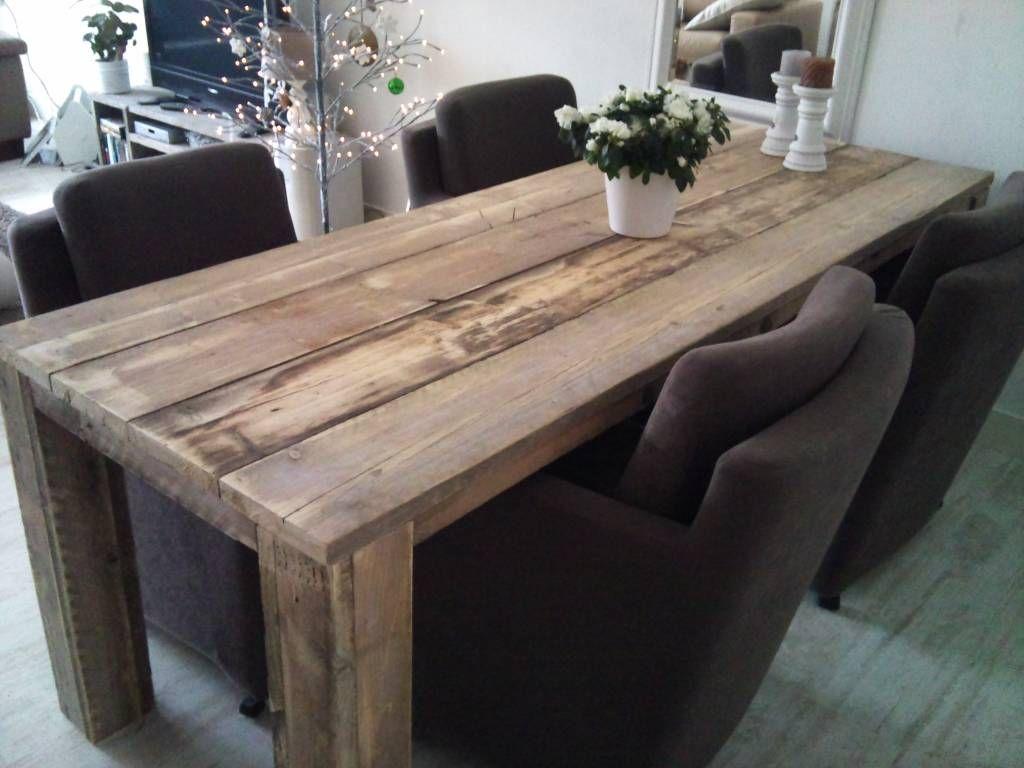 Steigerhouten eettafel tafel kaatsheuvel