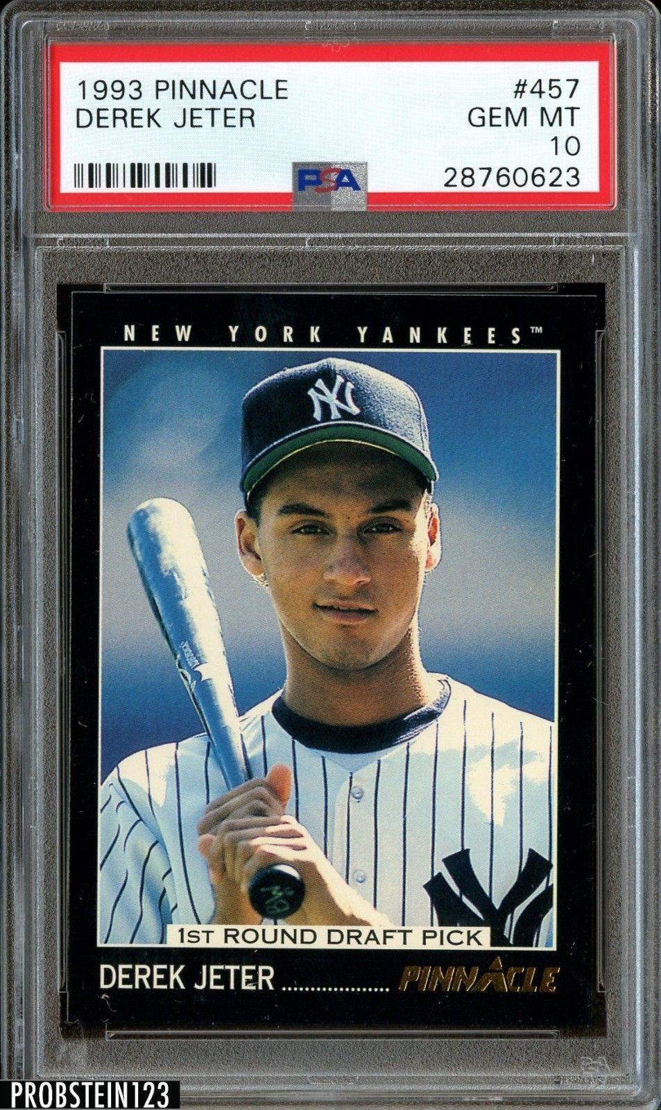 "Derek Jeter 1993 Score Select Rookie Card PSA /""8/"" Near Mint-Mint   NY Yankees"