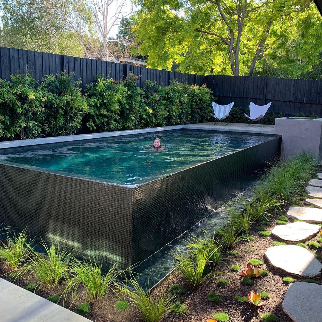 Nice Spot To Be Today In Melbourne On A 44 Degree Day Landscapearchitecture Lap Pools Backyard Pool Fencing Landscaping Swimming Pools Backyard