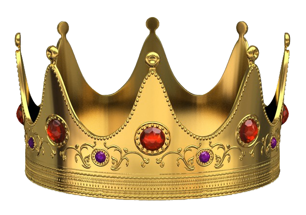 Golden Crown With Red Diamonds Png Picture Png 630 442 Crown Clip Art Crown Png Golden Crown