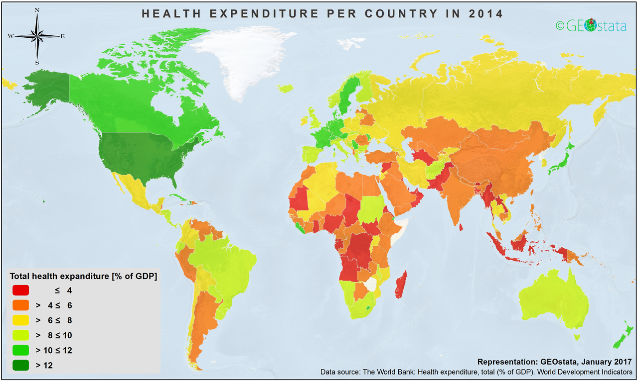 Health expenditure per country worldwide maps pinterest explore world maps and more health expenditure per country worldwide gumiabroncs Choice Image