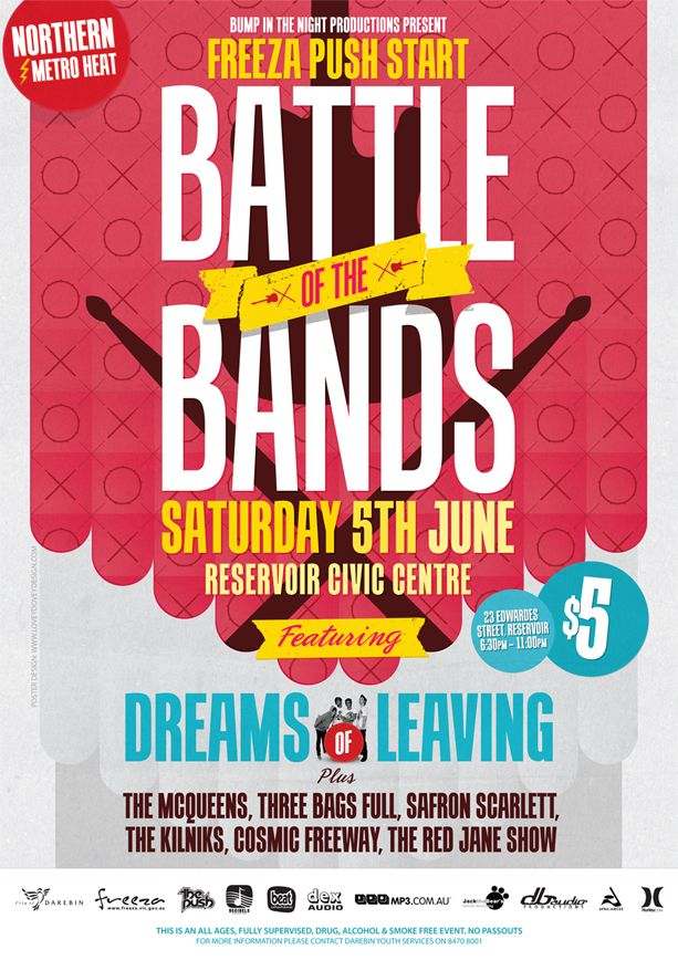 summer sizzle battle of the bands, winner takes all! Fundraising - fundraising flyer