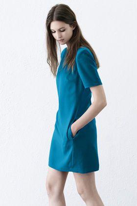 Dresses | Green SHOULDER PAD SHIFT DRESS | Warehouse · Shoulder PadsShift  DressesWarehouseWomen's ...