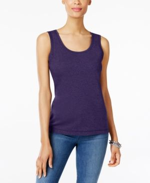 d648a0b74b773 Karen Scott Cotton Tank Top