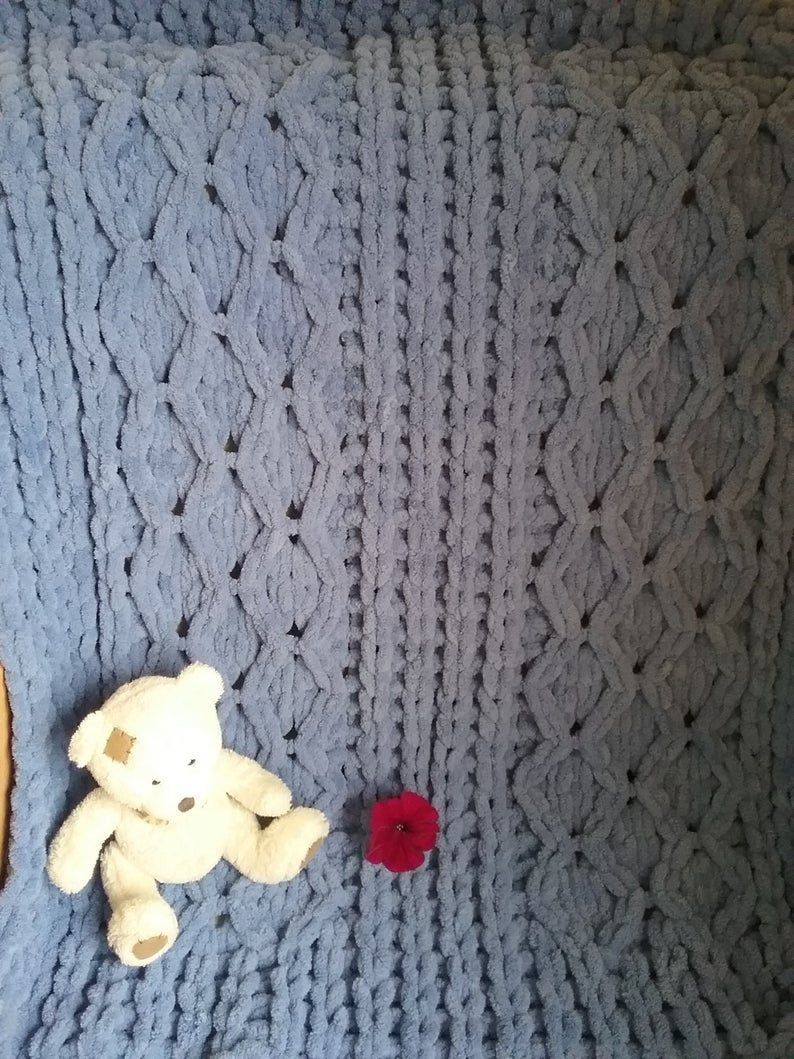 Photo of Hand-knitted blanket Babies blanket Soft blanket Baby blanket Custom blanket Newborn gift Baby Shower gif #softblanket