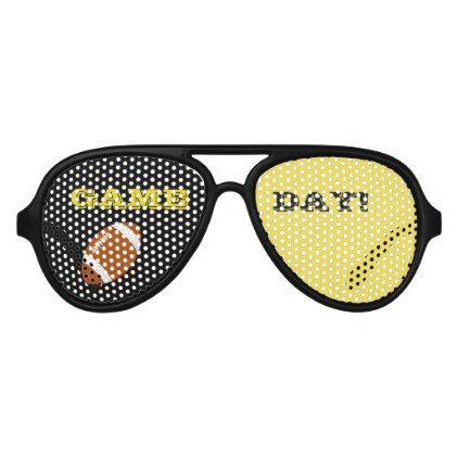 #Black and Yellow Aviator Sunglasses - #sunday #sundays
