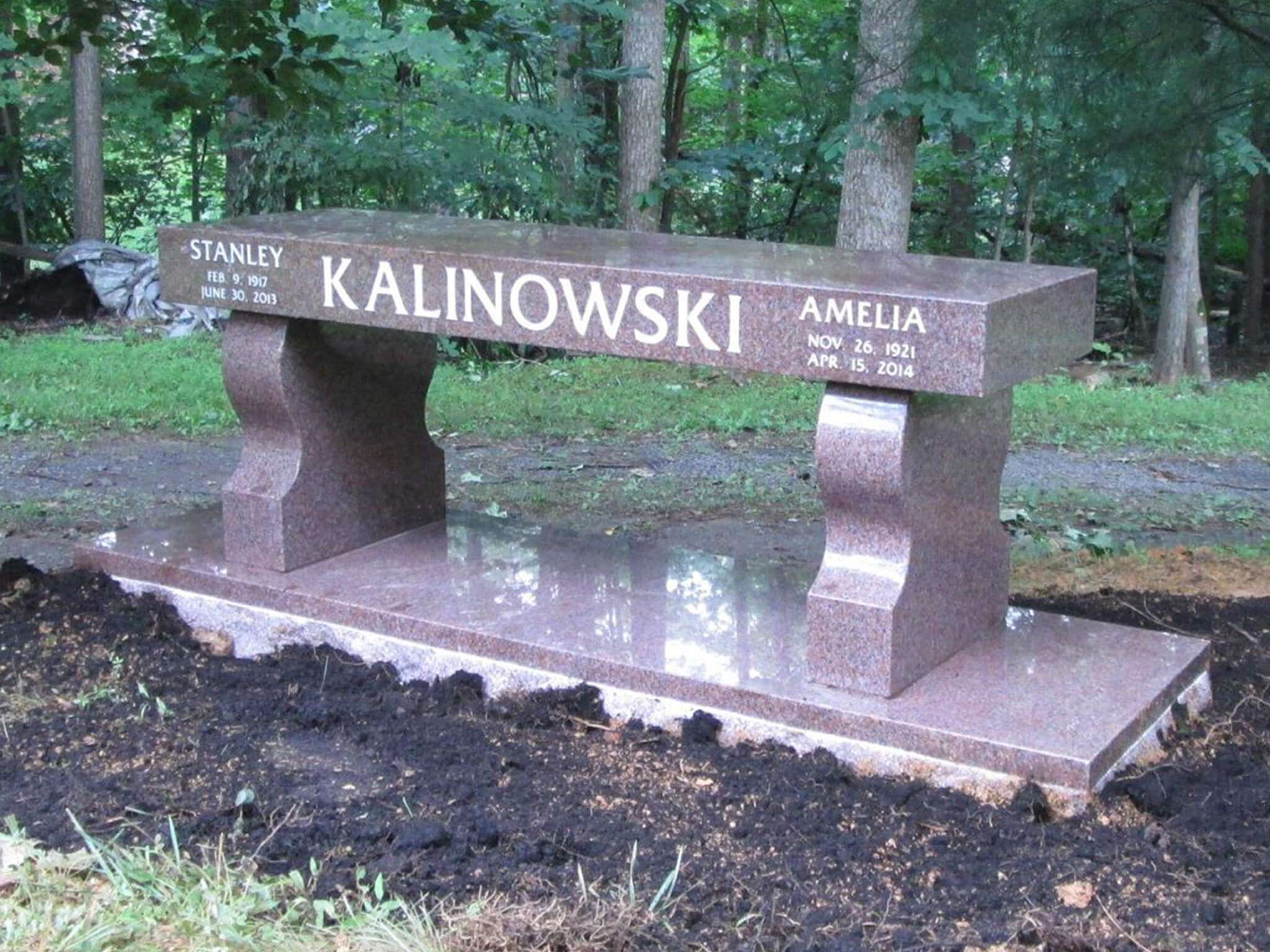Cemetery Installed Clifton Cemetery Color Imperial Pink Memorial Type Bench Easternmemorials Benches Memorial Benches Granite Memorial Headstones