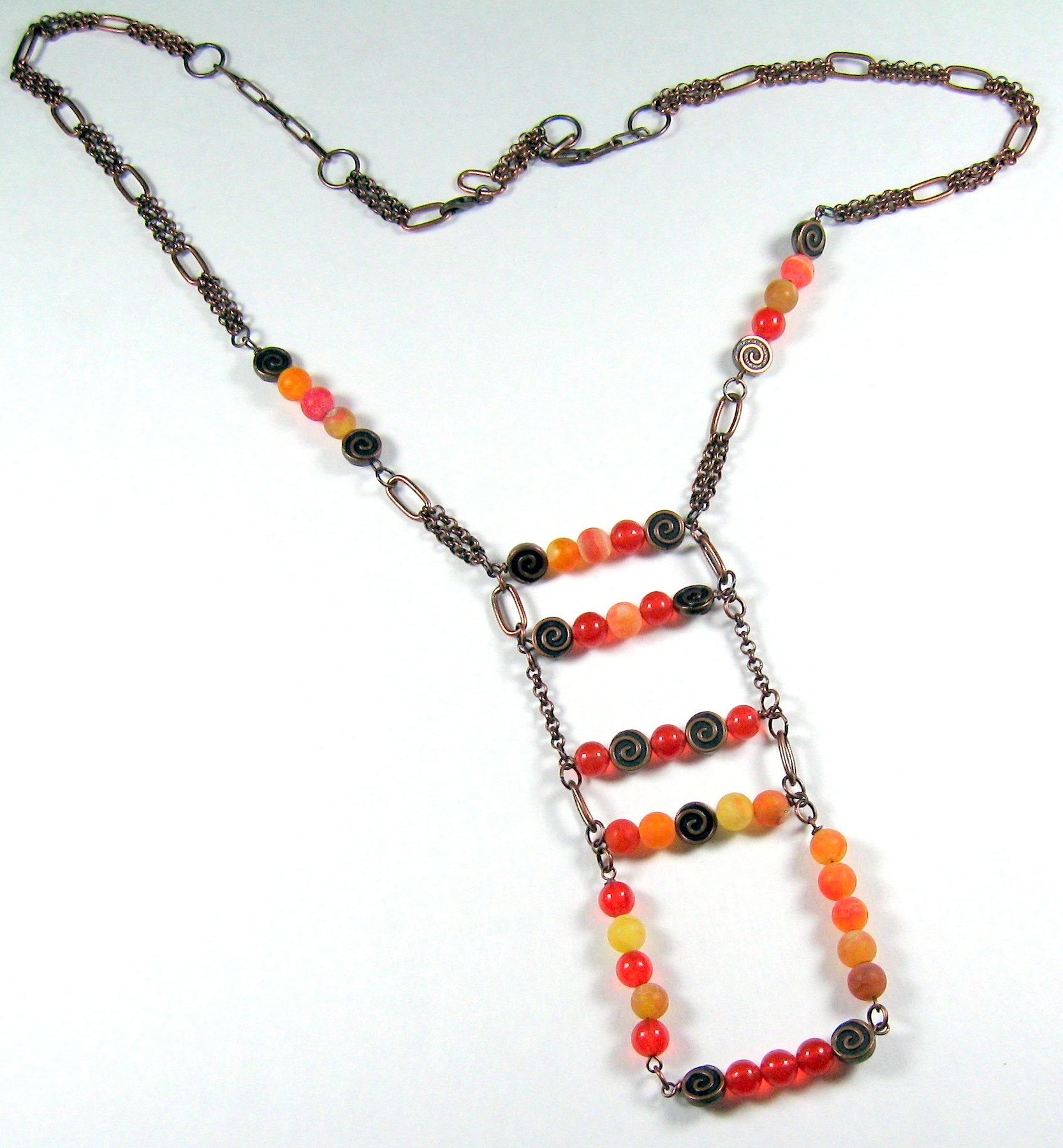 Check it out! Elysian Collection with Orange Topaz and Fire Agate - Tam Katzin Jewelry