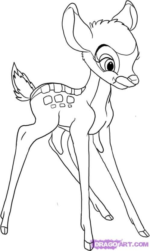 How to draw Bambi   Merryweather\'s Cottage Disney DIY   Pinterest ...