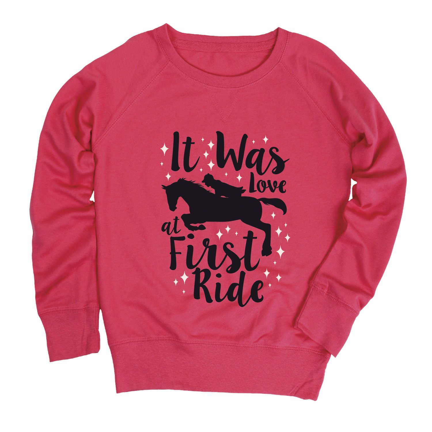 It Was Love At First Ride Youth French Terry Pullover