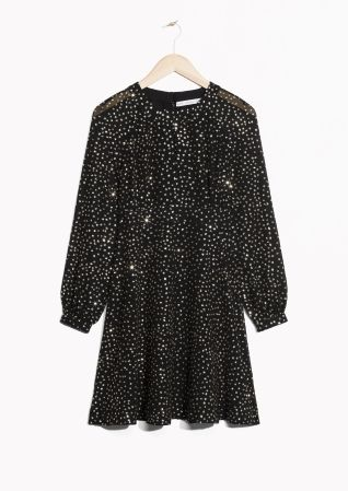 & Other Stories image 1 of Sparkles Dress in Black