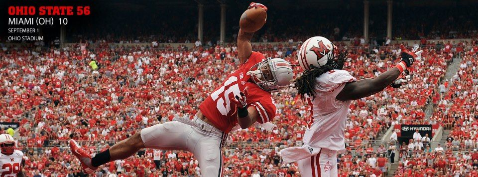 awesome catch Ohio state buckeyes football, Ohio state