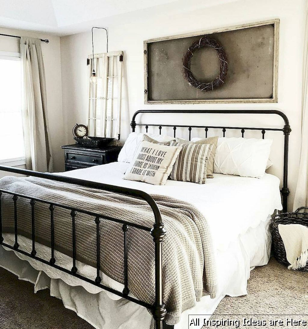 Best Nice 35 Incredible Modern Farmhouse Bedroom Decor Ideas 400 x 300