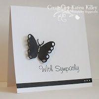 CAS butterfly sympathy card - bjl