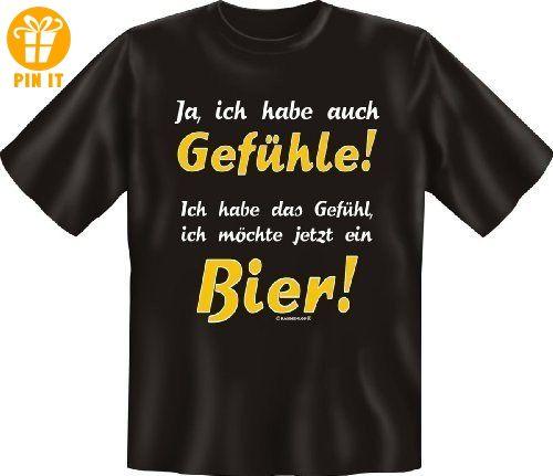 Ja ich habe auch Gefühle - Sprüche Fun T-Shirt - Biertrinker - in schwarz