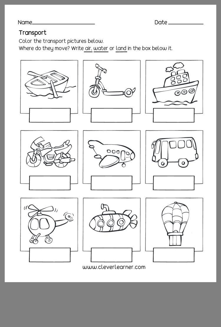 Pin By Ayesha Ansari On Kindergarten Transportation Theme Preschool Transportation Worksheet Transportation Theme [ 1108 x 750 Pixel ]