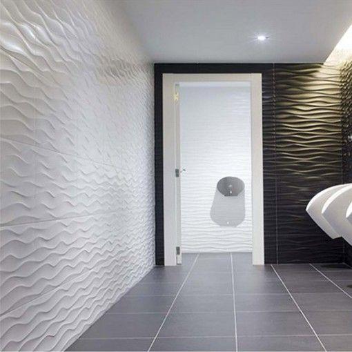 inspiration #deco salle de bains Black and White #aparici - photo faience salle de bain