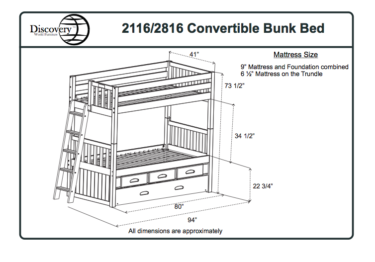 Bunk Bed Specifications Dimensions New House Ideas
