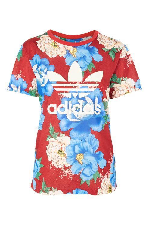 97d692406f749 Floral Print Trefoil T-Shirt by Adidas Originals | dope ...