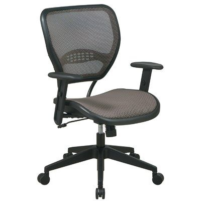 Office Star Air Grid Leather Adjustable Office Back Grid Chair