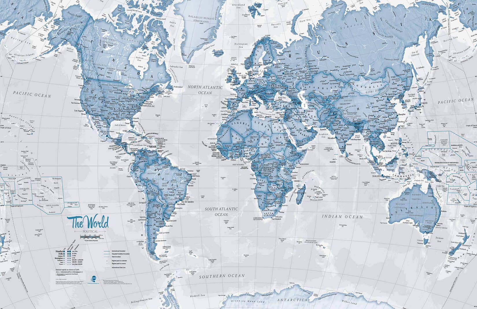 Blue World Atlas Map Wallpaper Mural Murals Wallpaper Map Wall Mural World Map Wallpaper Map Wallpaper