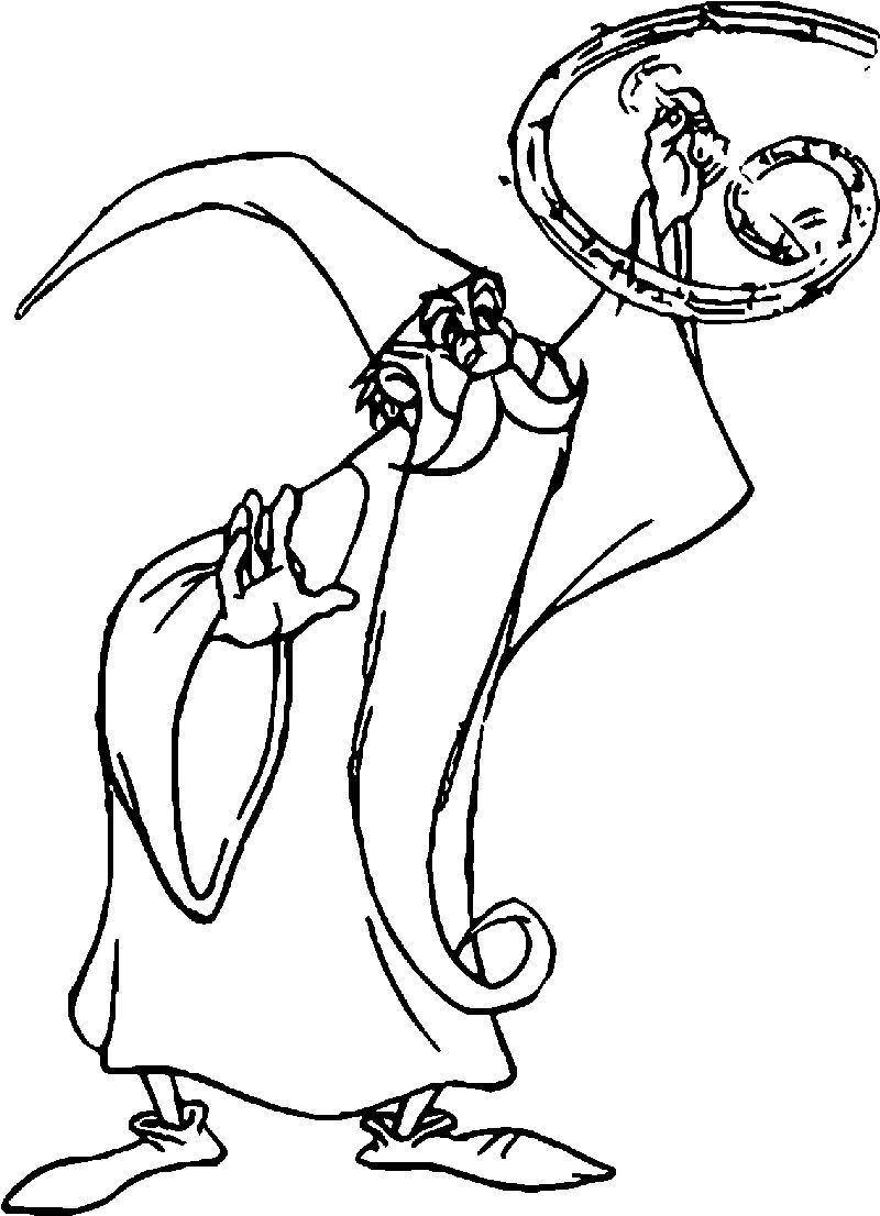 The Sword In The Stone Magician Merlin Making Magic Coloring Pages