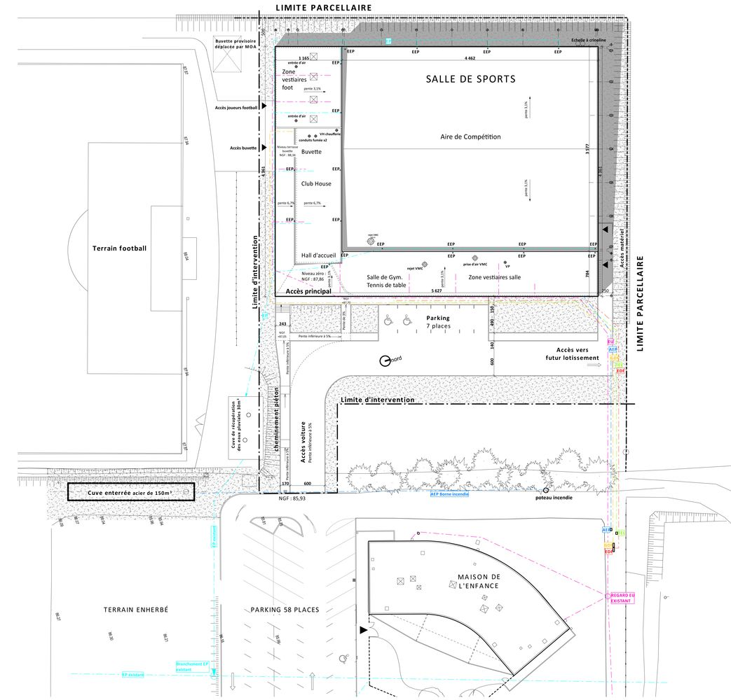 Best Kitchen Gallery: Gallery Of Gym Enoseis Eno Architectes 31 Hall of Sport Gym Floor Plan on rachelxblog.com