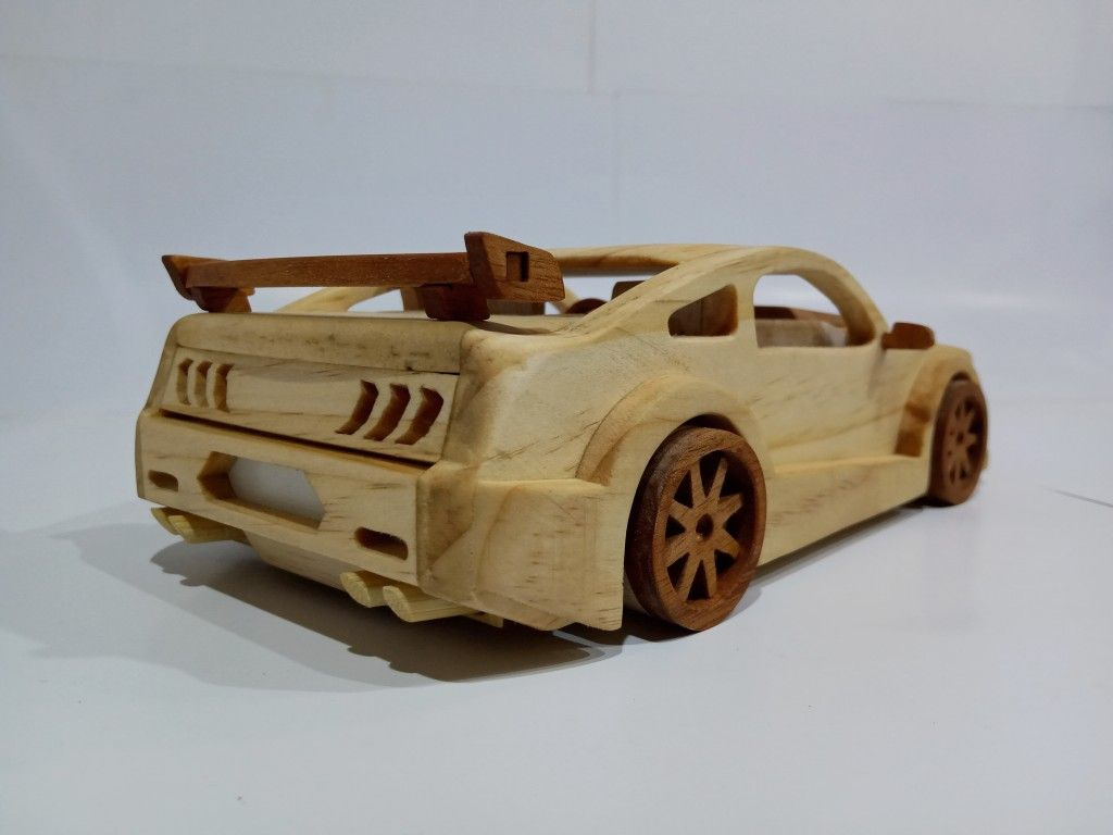 Ford Mustang Shelby Gt500 Wooden Toy Car Wooden Toy Cars Making Wooden Toys Wooden Toy Car