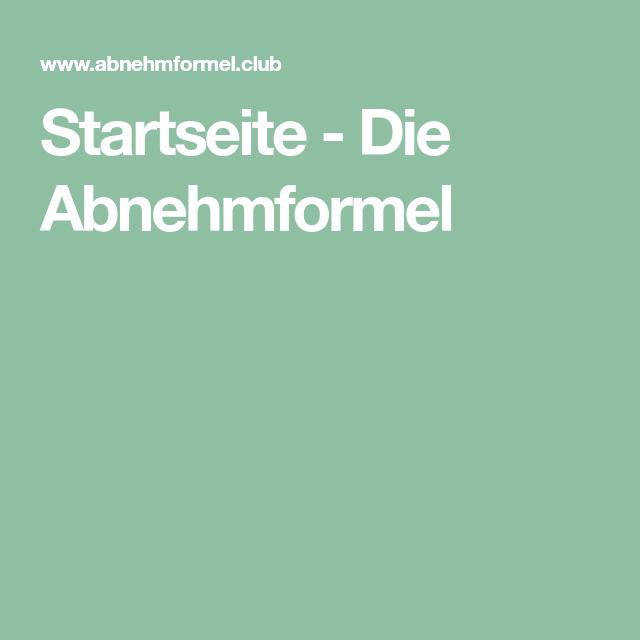 Startseite - Die Abnehmformel