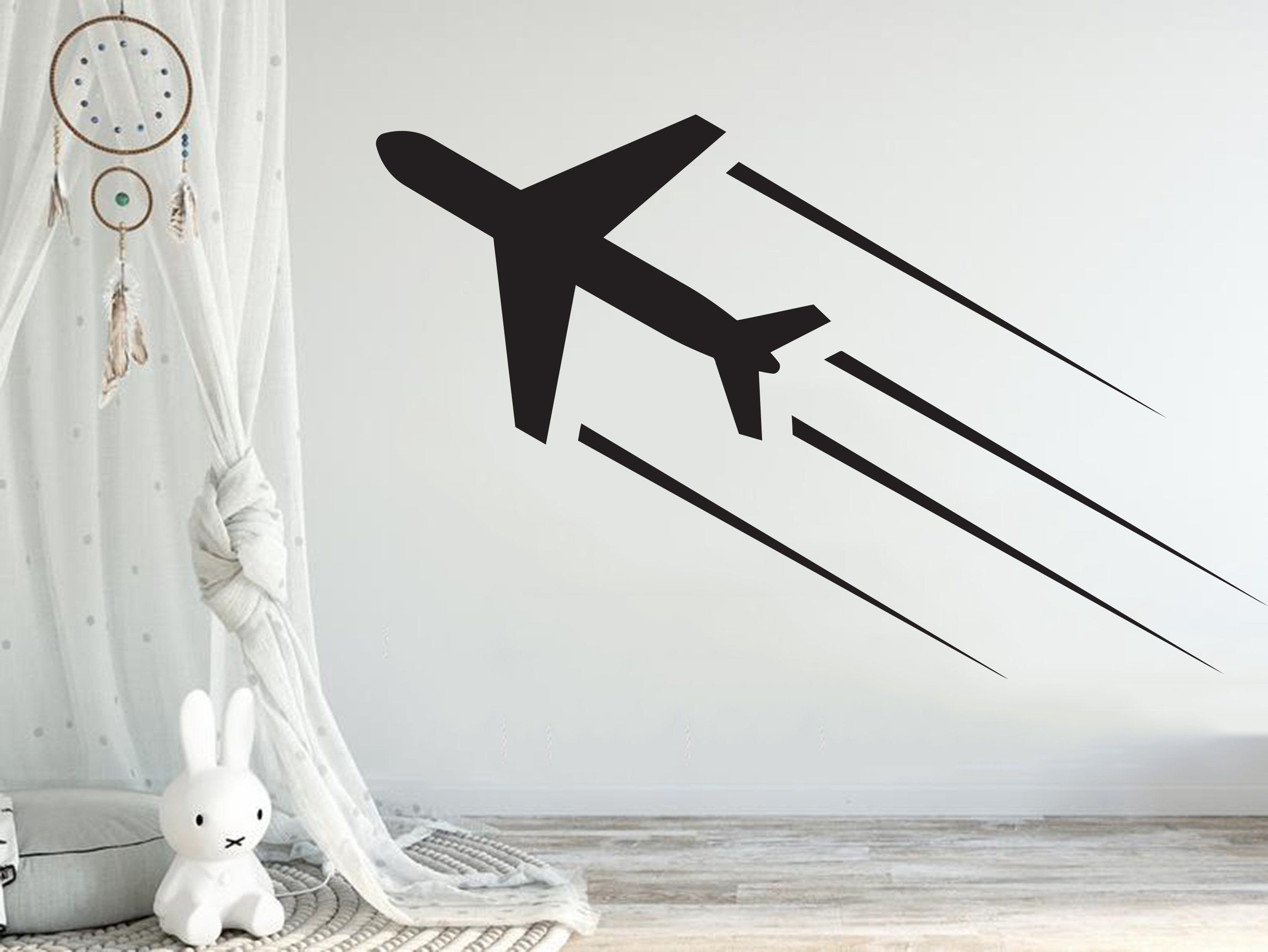 Airplane Wall Decal Airplane Decor Airplane Sticker Etsy Airplanes Wall Decals Wall Decals Airplane Wall [ 2086 x 2779 Pixel ]
