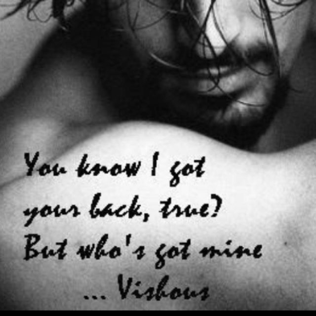 Vishous from The Black dagger brotherhood.