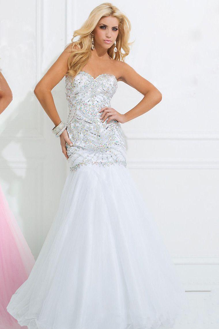 brilliant prom dress sweetheart neckline full beaded bodice