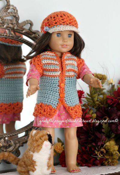 Free American Doll Pattern Crochet Clothes Patterns Pinterest