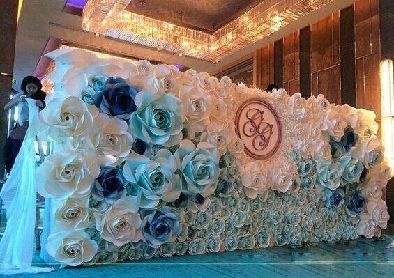 Flor artificial para papel de la decoraci n mural flores - Plantas artificiales para decorar ...