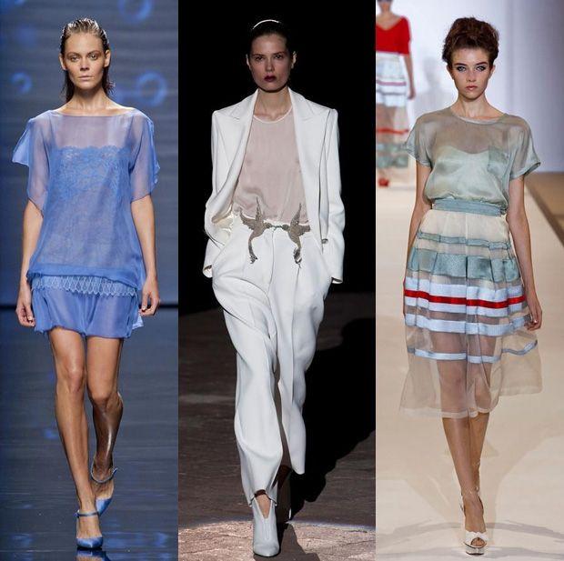 Sheer clothing at Alberta Ferretti S/S '13, Francesco Scognamiglio S/S '13 and Temperley London S/S '13