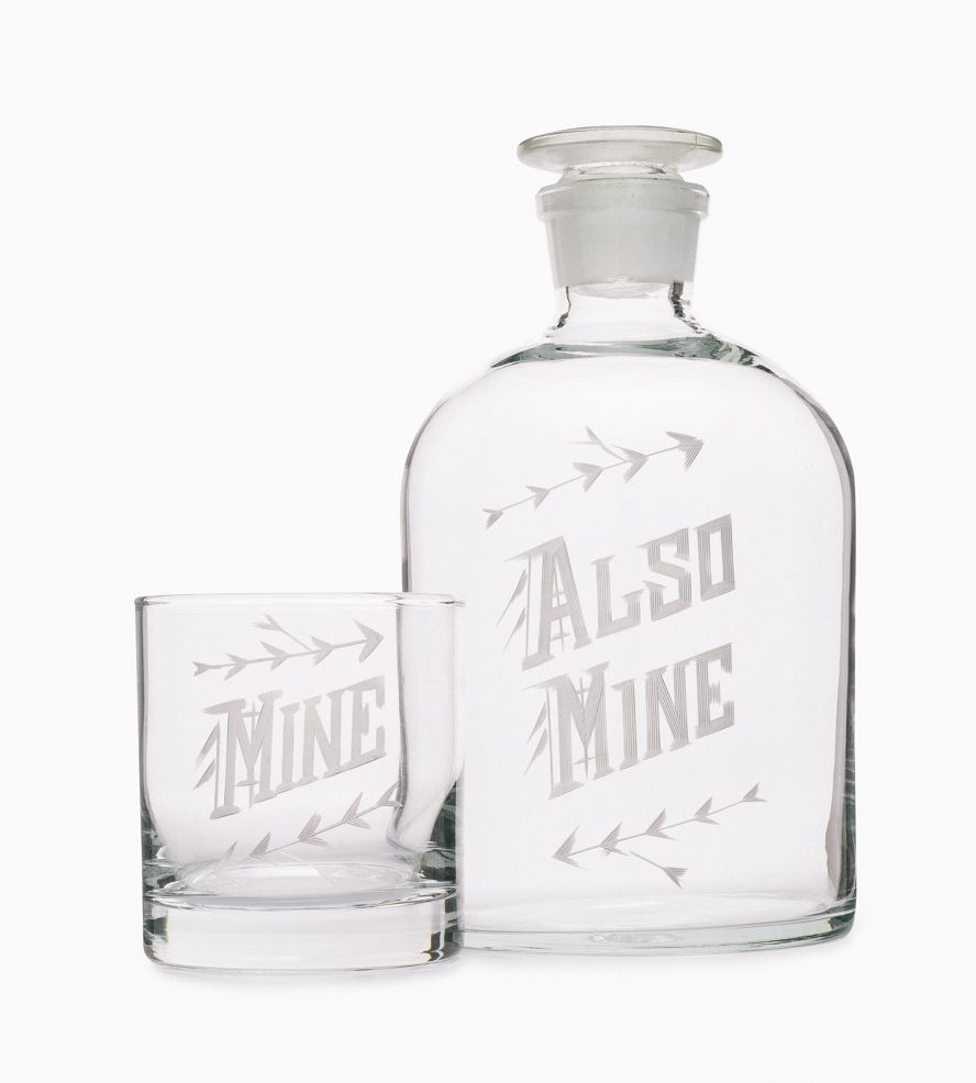 Mine Decanter & Glass Set   Some of us prefer to keep our whiskey all to ourselves, and th...   Decanters