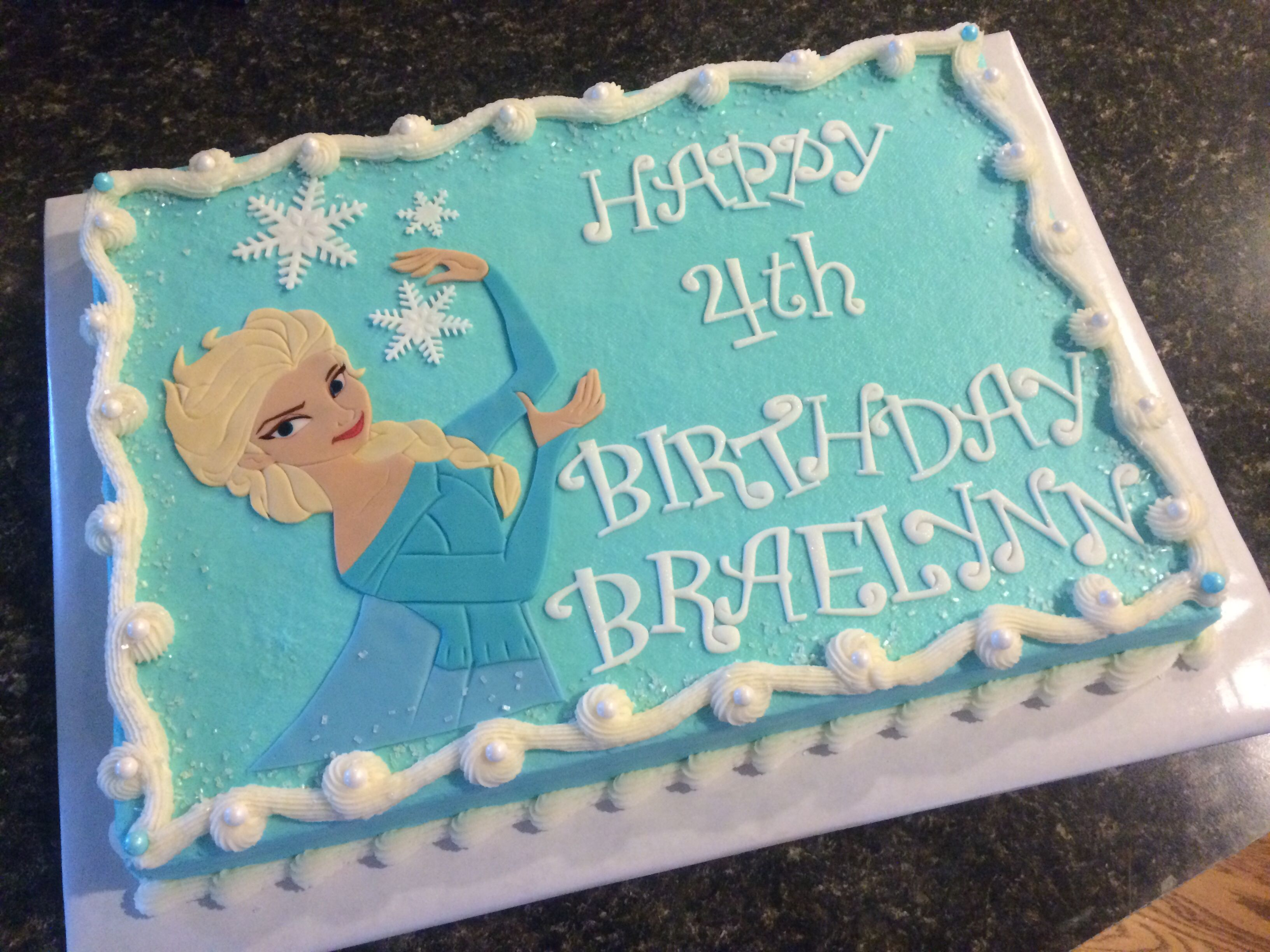 Elsa Sheet Cake With Images Frozen Birthday Party Frozen