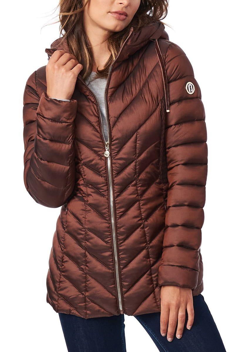 Bernardo Ecoplume Hooded Packable Puffer Jacket Nordstrom Packable Jacket Puffer Coat Jackets [ 1196 x 780 Pixel ]