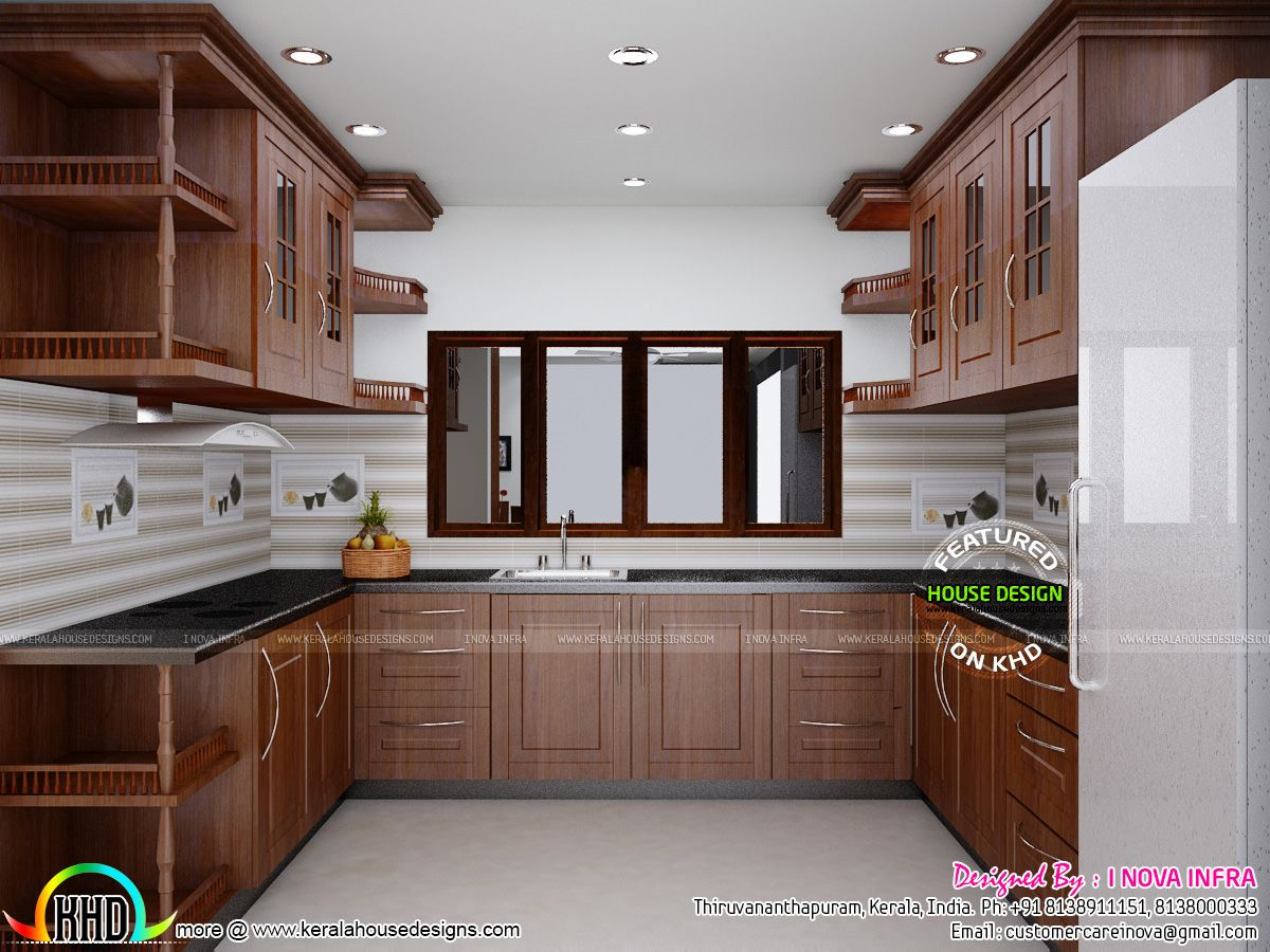 Kerala Traditional Interiors Home Design And Floor Plans Kitchen